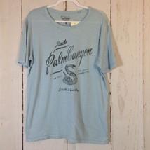 NWT Lucky Brand Men's Medium T-Shirt Blue Strike It Lucky - $16.40