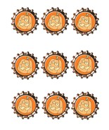 Pumpkin Bottlecap2 -Download-ClipArt-ArtClip-Bottle Cap-Digital - $4.00