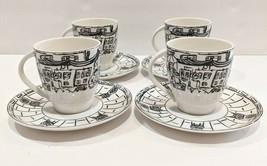 MIKASA Parisian Scenes Ultima+ Cup & Saucer Set Of 4 Tea & Coffee Mugs - $69.30