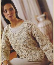 Cardigan & Sweater Crochet Patterns~6 Designs~By Kay Meadors~Gorgeous! - $24.99