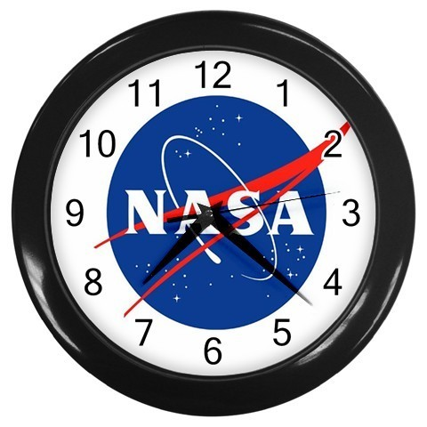 NASA - Research Logo Custom Black Wall Clock NEW