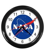 NASA - Research Logo Custom Black Wall Clock NEW - $16.46