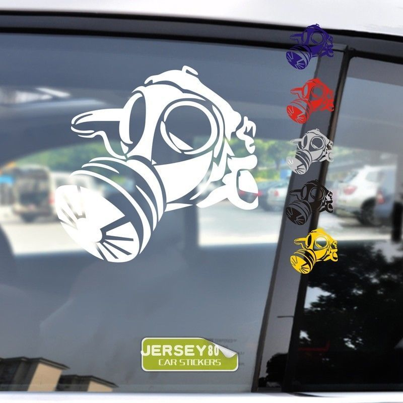 USMC US Army Navy Marine Gas Mask Car Trunk Die Cut Military Decal Sticker