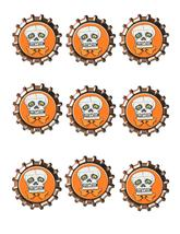Skull Bottlecap -Download-ClipArt-ArtClip-Bottle Cap-Digital - $2.00