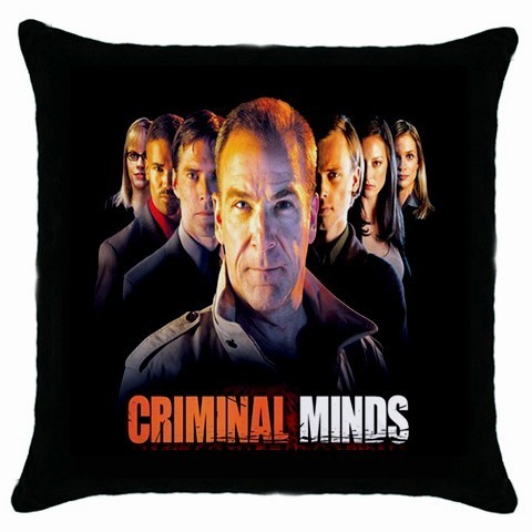 NEW Criminal Minds/TV Show  Black Cushion Cover Throw Pillow Case