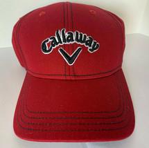 New! Callaway Adult Unisex Sport Twill Adjustable Cap-Red - $23.40