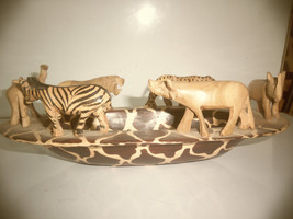 A Handmade Olive Oval Animal Bowl - $0.00