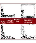 Digital Scrapbooking Seasonal Overlays - $4.00