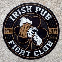 Irish Pub Fight Club Vintage 4 inch Circle Vinyl Sticker - $4.75