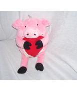Hallmark Expressions VAL PAL Pink Pig Bean Bag Plush w/Blank Gift Card 9... - $6.96