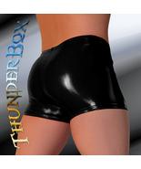 Thunderbox Glossy Black PVC Gladiator Shorts S, M, L, XL - $25.00