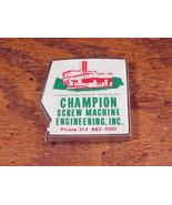 Lufkin Champion Screws Machine Engineering Advertising Tape Measure Wixo... - $9.95
