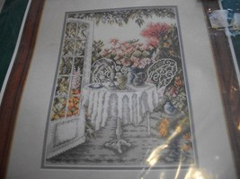 Veranda In Summer Counted Cross Stitch Kit: Comes with Fabric, Floss & Direction - $24.00