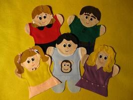 Puppet Family of 4 - $23.99