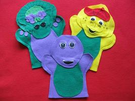 Barney and friends Baby Bop and BJ hand Puppets - $17.99