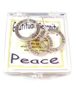Affirmation Sterling Silver Trio Spiritual Circle Necklace Set Spiritual - $47.99