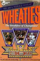 super bowl xxx anniversary wheaties cereal box bart starr bradshaw aikma... - $9.99