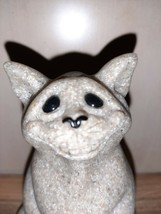 Chico the Cat Quarry Critters Gray Stone Figurine Statue by Second Natur... - $14.95