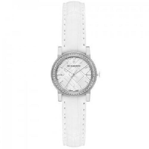 Burberry BU9221 Swiss 54 Diamonds Bezel Silver tone Alligator Band Watch $1795 - $675.99