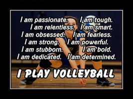 Inspirational Girls Volleyball Quote Poster Daughter Motivation Wall Art... - $19.99+