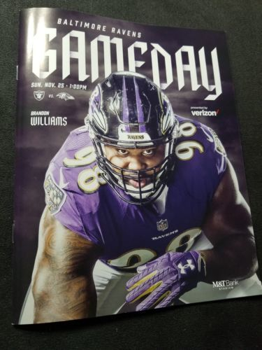 Baltimore Ravens GAME DAY Program Multi Autograph Marshal Yanda