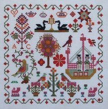 Two Cheeky Sailors c1849 sampler cross stitch chart Queenstown Sampler D... - $9.00