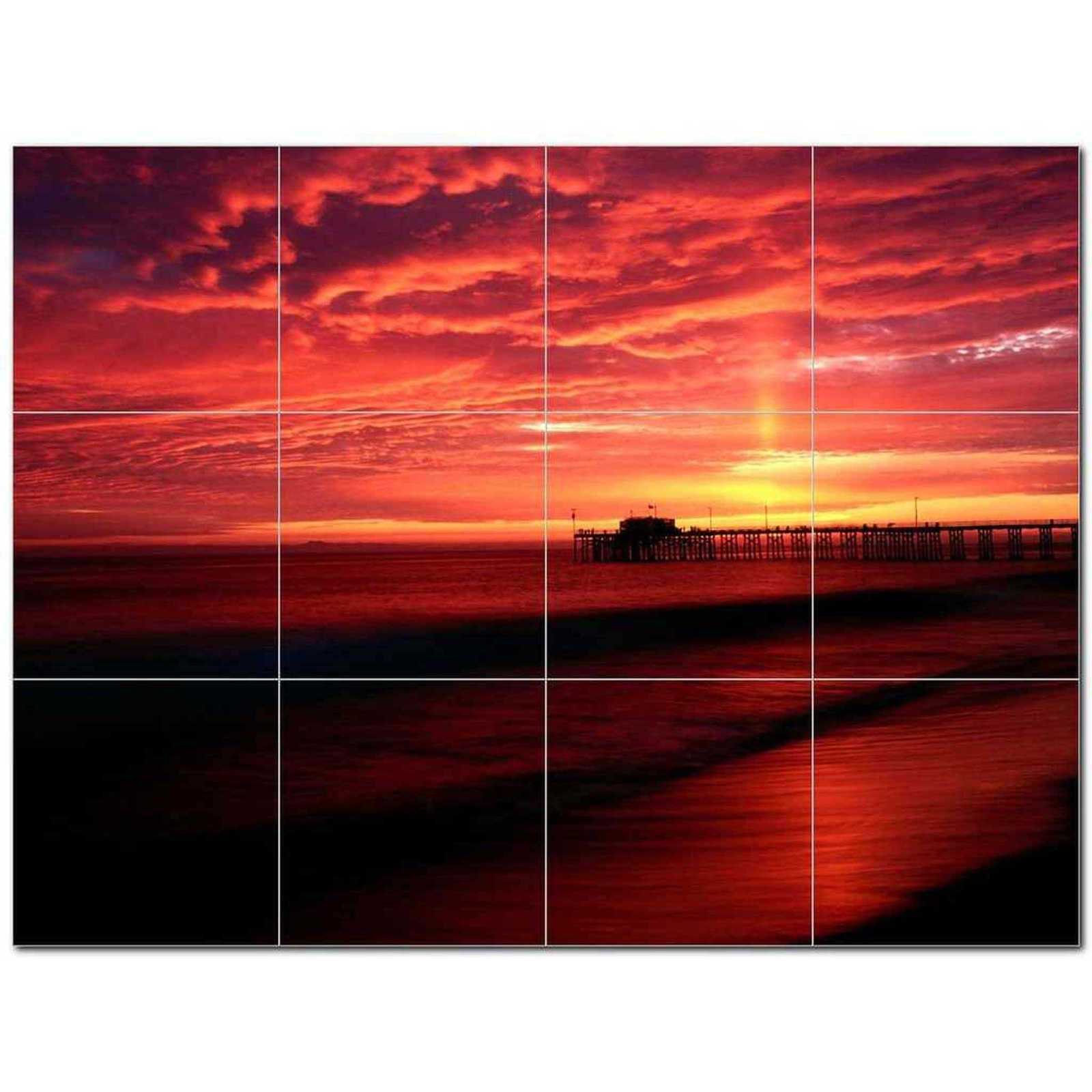 Primary image for Sunset Picture Ceramic Tile Mural Kitchen Backsplash Bathroom Shower BAZ405954