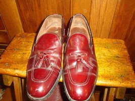 Sebago Mens Leather Slip on Dress Shoes Size 10 1/2 M Brown Tassels - $40.19