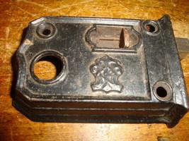Door Latch Dead Bolt Slide Strike Cast Iron Antique Vintage Black - $21.49