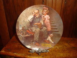 Norman Rockwell The Cobbler Collector Plate Knowles Limited Edition - $10.39