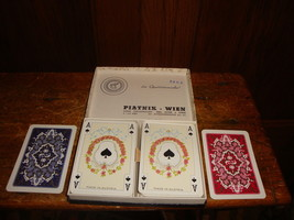 Vintage Piatnik Wein Baroque Playing Cards Double Deck Complete Austria Jokers - $40.19