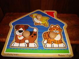 Melissa & Doug Jumbo Knob Wooden Puzzle House Pets - $5.89