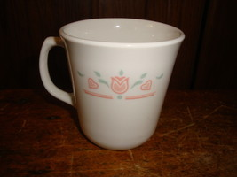 Corning USA Tulip & Hearts Coffee Cups Mugs  Set of 3 - $14.95