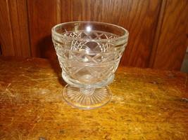 Vintage Diamond Point Stemmed Pressed GLass Sherbert Cups Set of 8 - $40.19