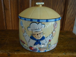 Ceramic Cheese Canister With Lid Ellen Crimi Trent - $18.68