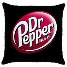 Dr Pepper Soda  Logo Black Cushion cover Throw Pillow case - $15.00
