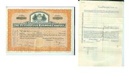 1930 PENNSYLVANIA RAILROAD STOCK CERTIFICATE-ONE SHARE - $19.99