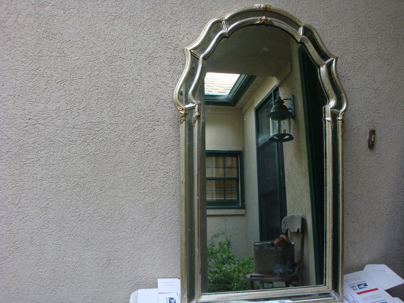 Vintage La Barge Mirror Silver with Gilt Ornate Hollywood Regency Mid Century - $261.65