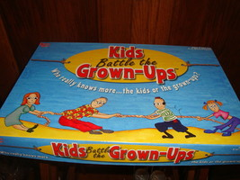 Kids Battle The Grown Ups Trivia Board Game University Games 2002 Complete - $14.01