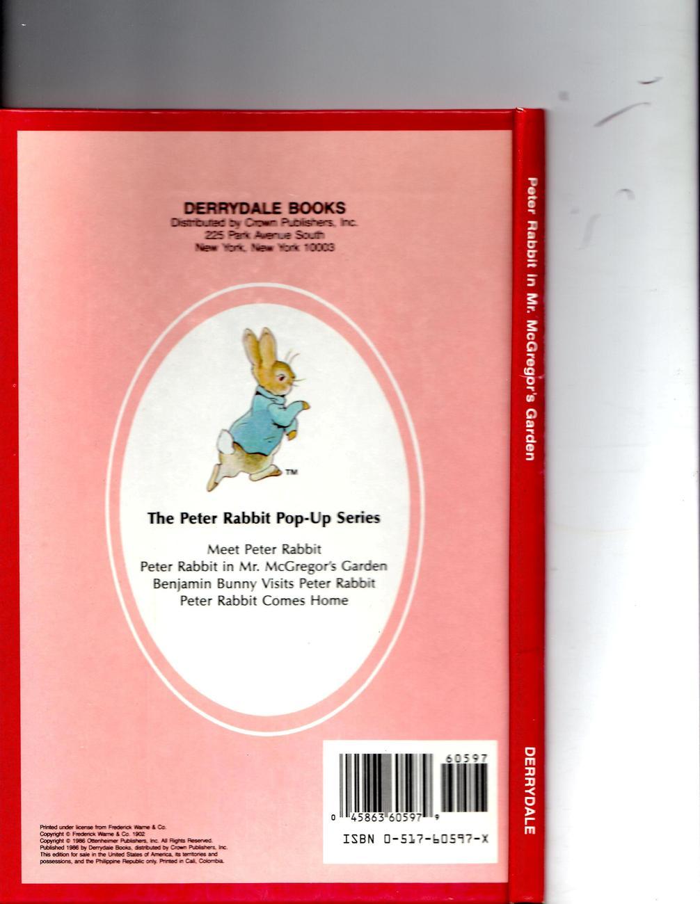 Petter Rabbit In McGregor's Garden  A Pop-Up Book