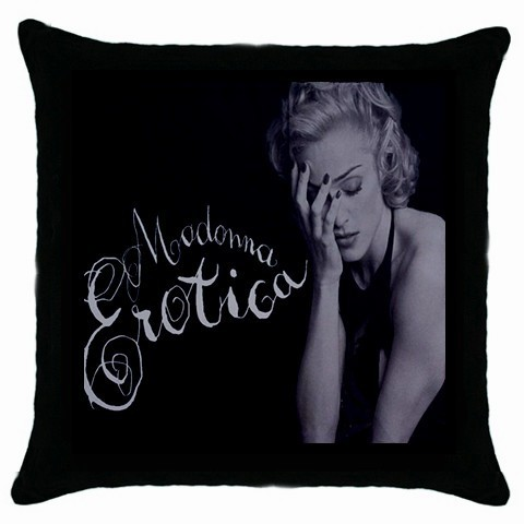 Madonna-Erotica Black Cushion Cover Throw Pillow Case-NEW