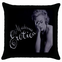 Madonna-Erotica Black Cushion Cover Throw Pillow Case-NEW - $15.00