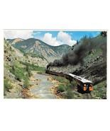 RR Colorado Narrow Gauge Train Las Animas River Canyon Petley 4X6 Postcard - $4.99