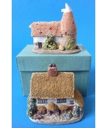 2 Miniature Houses Bluebell English Cottage and Mill w Turret BCR Lillip... - $18.95