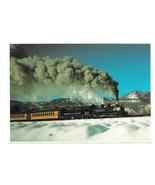 Durango and Silverton Narrow Gauge Train CO Winter Snow Petley RR Postca... - $4.99