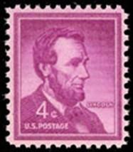1954 4c Abraham Lincoln, United States 16th President Scott 1036 Mint F/... - $0.99