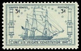 1947 3c USF Frigate Constitution Sesquicentennial, 150th Scott 951 Mint ... - $0.99