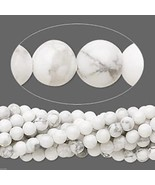 4mm White Howlite Round Beads (95 +/- per strand) - $3.42