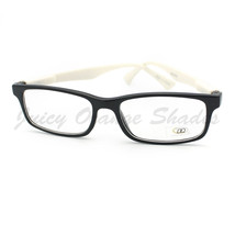 Clear Lens Eyeglasses Thin Rectangular Black Frame Color Zebra Print - $9.95