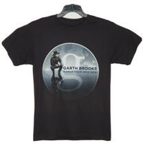 Garth Brooks T Shirt 2014 Tour Black Short Sleeve Mens Country Concert Small - $14.70